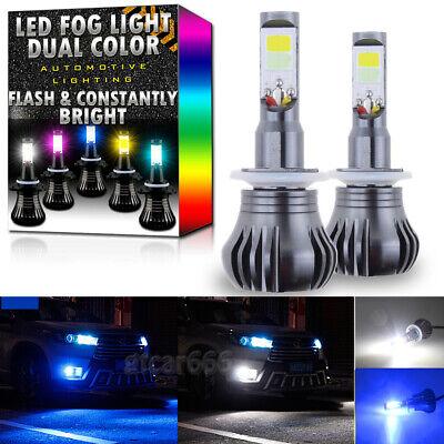 2x 880 899 LED DRL Fog Driving Light Bulbs Dual Color Strobe Flash White +