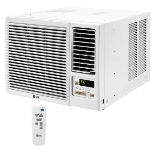 LG 7,500 BTU 115-Volt Window Air Conditioner with Heat and Remote, White