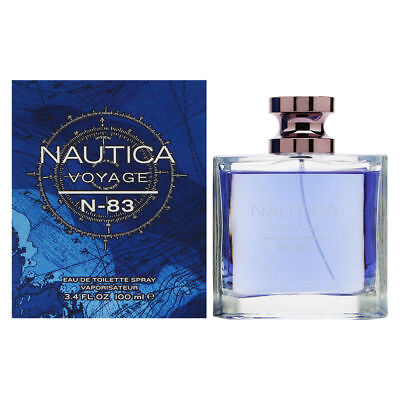 NAUTICA VOYAGE N - 83 for men 3.3 / 3.4 oz edt Cologne New in Box