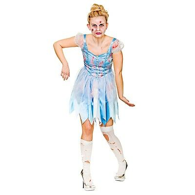 Dead Princess Halloween (Zombie Princess Cinderella  - Ladies Adult Dead Halloween Costume Fancy)