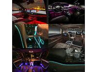 Car Ambient Lights For Doors, Dashboard, Centre Console, Foot Light, RGB LED Strips 64Colors