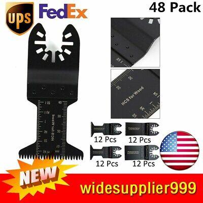48pcs Bi-metal Woodsoft-metal Oscillating Multi Tool Saw Blade Precision Sale