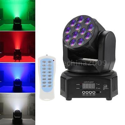 12 LEDs 40W RGBW Wash Rotating Moving Head Stage Effect Light DMX512 Sound M7K1