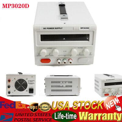 Us Mp3020d Led Variable Adjustable Lab Dc Bench Power Supply 0-30v 0-20a Proffi