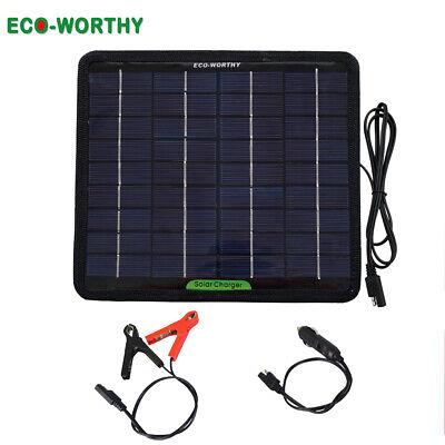12V 5W Waterproof RV Car Boat Van Solar Power Panel Trickle Battery