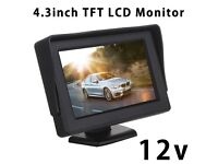 4.3 Inch 12v In Car Dash LCD TFT Monitor Screen and Rearview Camera For Parking Car PC Movie