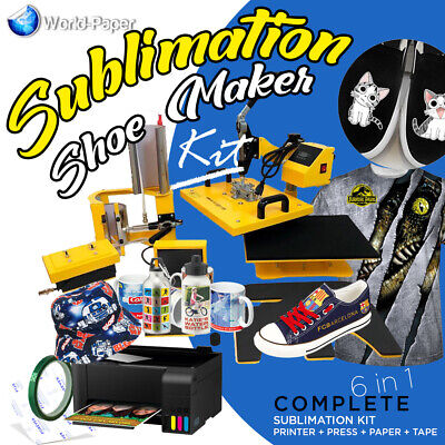 Heat Press Transfer Machine Sublimation T-shirtcanvas Shoes Diy Printing 6 In 1