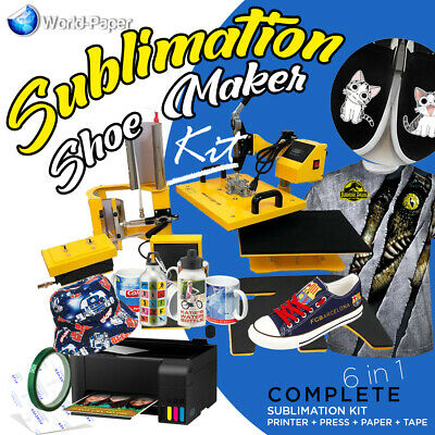 Heat Press Transfer Machine Sublimation T-shirtcanvas Shoes Diy Printing 6 In 1