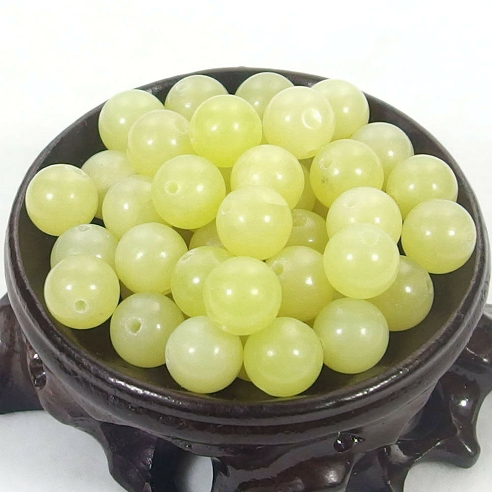 Bulk Gemstones I natural spacer stone beads 4mm 6mm 8mm 10mm 12mm jewelry design lemon jade