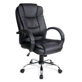Premium PU Leather Office Computer Chair Black