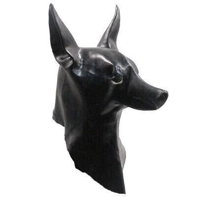 Jackal Halloween Mask (Anubis Mask Adult Latex Mask Egypt The Jackal God Costume Masqurade)