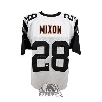 ed4d54fe Joe Mixon Autographed Cincinnati Bengals Custom Color Rush Football Jersey  - JSA