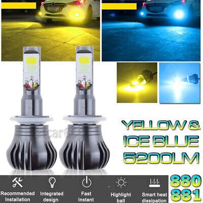 880 899 LED DRL Fog Driving Light Bulb Dual Color Strobe Flash Yellow + Ice - Double Flash Xenon Strobe Light