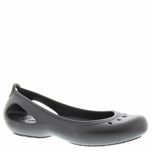 e7a9495d6f Crocs Kadee Work Flat 200941 - 001 Black Women's Various Sizes 7 UK ...