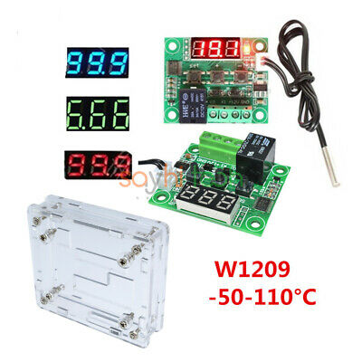 W1209 Digital Thermostat Temperature Controller Dc12v Ntc10k 1 3950 Cable