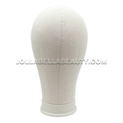 Rb Mannequin Canvas Cork Head Wigs Display Block With Mount Hole 22