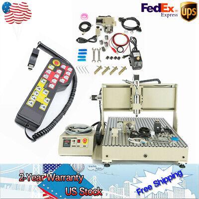 4axis Cnc6090 2200w Router Engraver Metal Engrav Milling Machine 2.2kw Usb Ukde