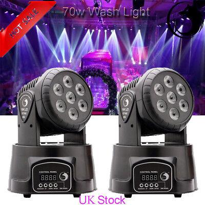 2PCS U`king Stage Light 7 LED Wash Moving Head Disco Light DMX DJ Party Club