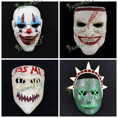 Halloween Horror Nights Face Mask Cosplay Party Best Prop Comic Scary Mask