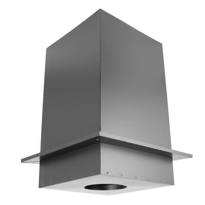 duraplus 6 in. square ceiling support box and trim collar - 11 in. tall   triple