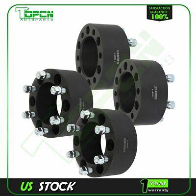 "4X black wheel spacers 6x5.5 14x1.5 studs 3"" thick for Chevrolet Silverado 1500"