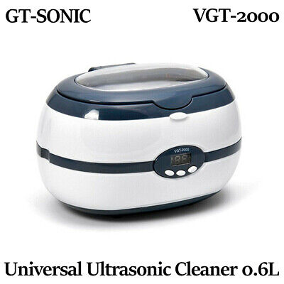 Gt Ultrasonic Cleaner Solution Bath Clean Parts Instrument Jewelry Dental 0.6l