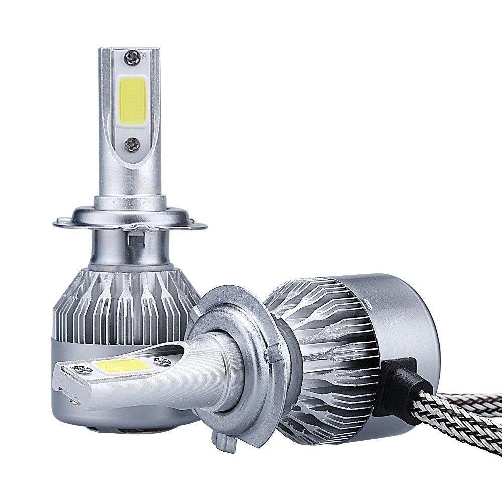 2x Cooligg H7 LED Headlight Conversion Bulbs Kit High Low Beam Lamp 6000K White - $9.99