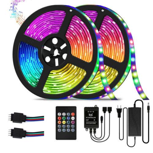 10M 20Key RGB LED Strip Lights Music Sync Color Changing Lig