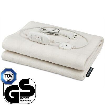 Manta eléctrica calentador 60W lavable 150x80cm 3 funciones certificación TÜV