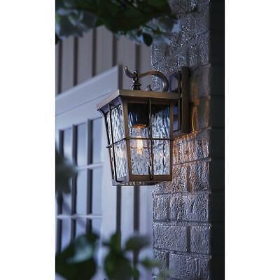 Home Decorators 1-Light Golden Bronze Outdoor 6 in. Wall Mount Lantern