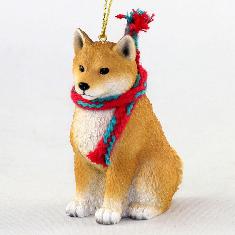 Shiba Inu Christmas Scarf Ornament