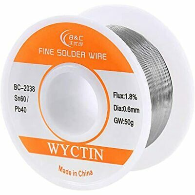 Wyctin 60-40 Tin Lead Rosin Core Solder Wire For Electrical Soldering And Diy