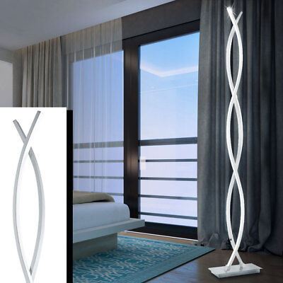 LED 36W Design Stand-Lampe Schlaf Zimmer Wellen ALU Stahl Stand Leuchte EEK A+