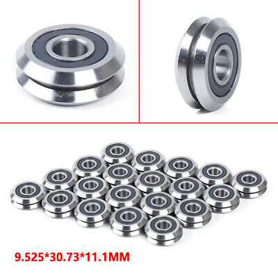 20pcs Rm2-2rs 38 V Groove Sealed Ball Vgroove Bearing 9.52530.7311.1mm New