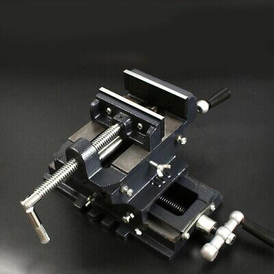 4 Cross Drill Press Vise Slide Metal Milling 2 Way Clamp Machine Heavy Duty