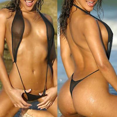 Women One Piece Swimsuit High Cut Monokini Backless Bikini Swimwear Underwear