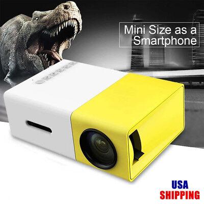 YG-300 Lumi USB LED HDMI Mini Projector 1300mAh Li-battery Portable Media Player