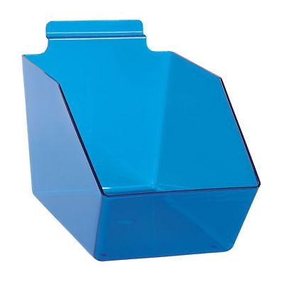 10 Slatwall Bins Dump Acrylic Blue 9 X 6 W X 5 Plastic Retail Display