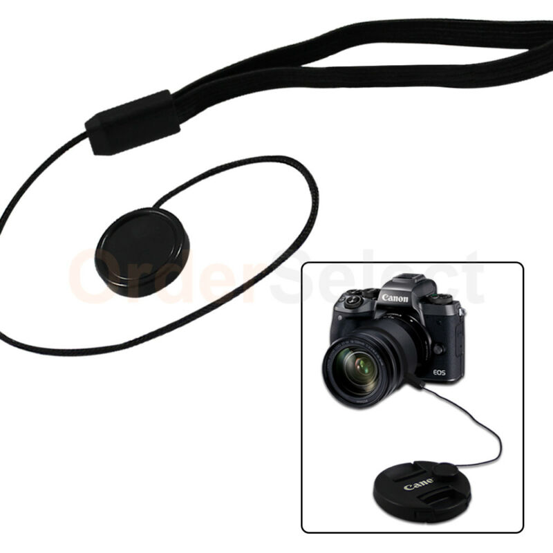 3X Lens Cap Strap Holder String Keeper Front Cover for Nikon Canon Sony Pentax