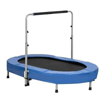 "Mini Toy 2 Kids Trampoline Jump 56"" w/Adjustable Handle Bala"