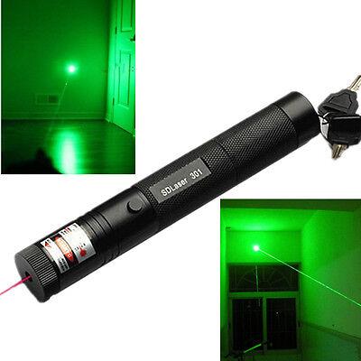 Military 10miles Green 5MW 532NM Laser Pointer Pen Lazer Light Visible Beam Burn