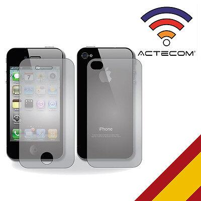 ACTECOM® CRISTAL TEMPLADO 9H 2.5D PARA IPHONE 4 4S DOBLE DELANTERO Y...