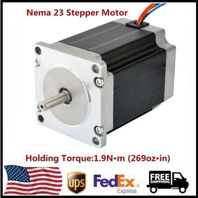 Nema 23 Stepper Motor 1.9n.m269ozin 3a 3.6v 4 Leads For Cnc 3d Printer Us Ship