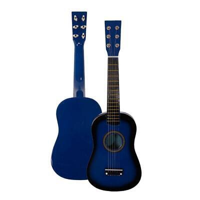 """23"""" Beginners Kids Acoustic Guitar 6 String Blue Black Friday Gift for Children"""