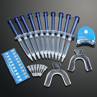 USA Teeth Whitening Kit (10) Tubes (2) Trays (1) White LED Light Best 44% CP (Best Teeth Whitening Gel)