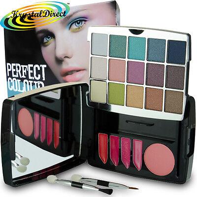 The Look Make Up Eye Lip & Cheek Palette Blusher Shadow Lipstick Gift Set