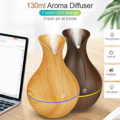 7 Color Aroma Essential Oil Diffuser Wood Grain Aromatherapy