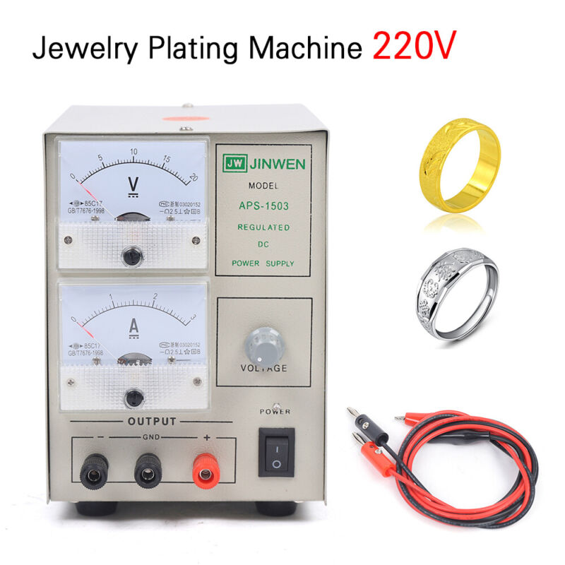 Small Plating Machine Silver Gold Electroplating kit Jewelry Processing Plater