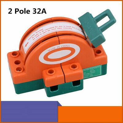 32a 2 Pole Double Throw Dpdt Knife Safety Disconnect Switch Copper Plated Zinc