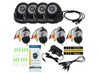 CCTV IR Dome Cameras x 4 1200TVL + 4 Channel DVR CCTV Video Recorder HDMI P2P 1080P